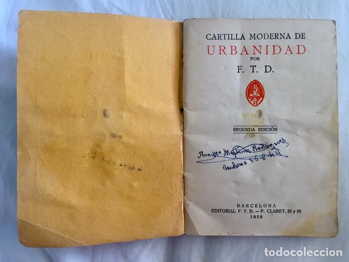 Libros antiguos: Original Cartilla moderna de urbanidad 1928 FTD - Ilustrador Opisso - Foto 3 - 136340206