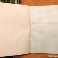 Libros antiguos: QUIMICA ORGANICA E INORGANICA-APUNTES LC(30€). Lote 138163198