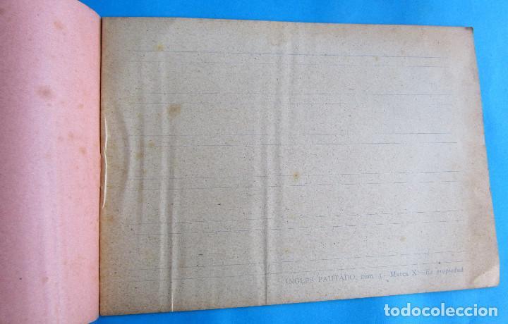 Libros antiguos: CUADERNO DE ESCRITURA INGLÉS. Nº 3. MARCA X, SIN FECHA. - Foto 2 - 140149054