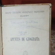 Libros antiguos: APUNTES DE GEOGRAFÍA Y ARITMÉTICA - IMPRENTAS AGUSTÍN ARMIÑANA Y EL SERPIS - 1919. Lote 140208626