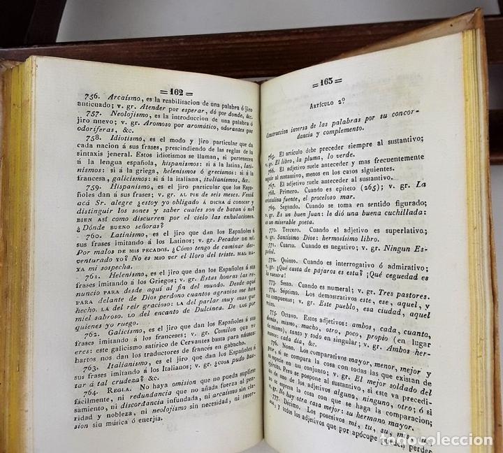 Libros antiguos: GRAMÁTICA DE LA LENGUA CASTELLANA. J. GONZALEZ. IMP. GREGORIO MATAS Y DE BODALLÉS. 1842. - Foto 6 - 140351202