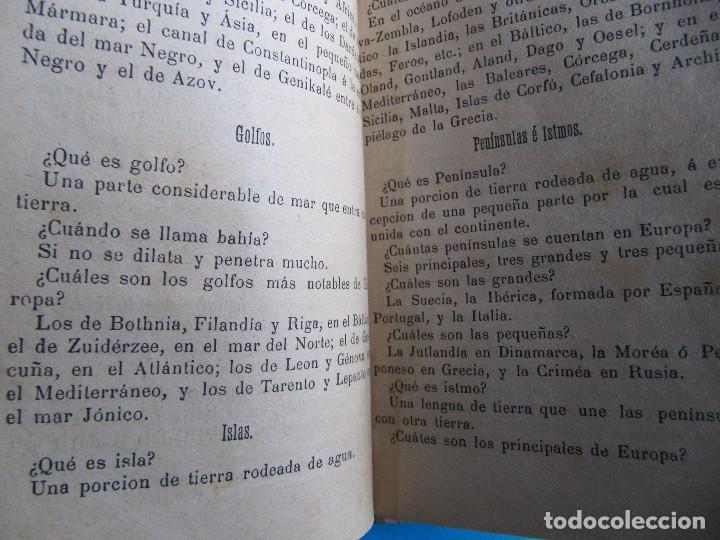 Libros antiguos: NOCIONES DE GEOGRAFÍA. JOSÉ HOMS PBRO. VICH, IMPRENTA Y LIBRERÍA DE RAMON ANGLADA, 1891. - Foto 4 - 140398166