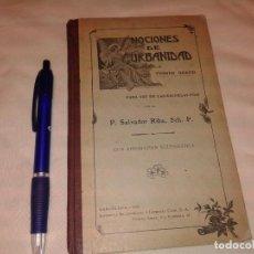 Libros antiguos: NOCIONES DE URBANIDAD 1922. Lote 140435198
