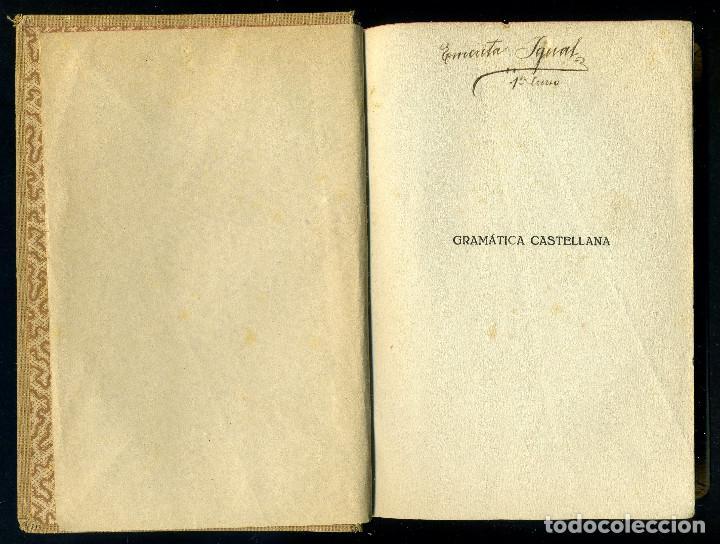 Libros antiguos: ESTUDIOS ELEMENTALES DE LENGUA CASTELLANA - GRAMATICA . FRANCISCO J. GARRIGA - Foto 2 - 142755442