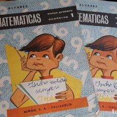 Libros antiguos: CUADERNOS DE MATEMÁTICAS PRIMERO Y SEGUNDO CURSO DE ÁLVAREZ, AÑO 1966. Lote 143999346