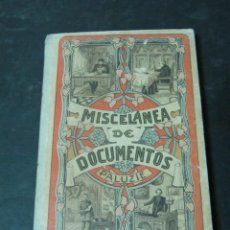 Libros antiguos: LIBRO MISCELANEA DE DOCUMENTOS BIEN CONSERVADO TAPA DURA. Lote 144679618