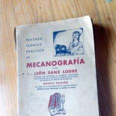 Libros antiguos: TRATADO TEÓRICO PRACTICO DE MECANOGRAFÍA 1943. Lote 145630682