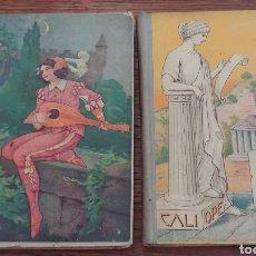 Libros antiguos: LOTE GUERRA CIVIL 2 LIBROS ESCOLARES PÁGINAS SELECTAS HOJAS LITERARIAS DALMAU CARLES 1933 1934. Lote 147013974
