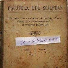Libros antiguos: ANTIGUO LIBRO - ESCUELA DEL SOLFEO - MUSICAL EMPORIUM - . Lote 147553970