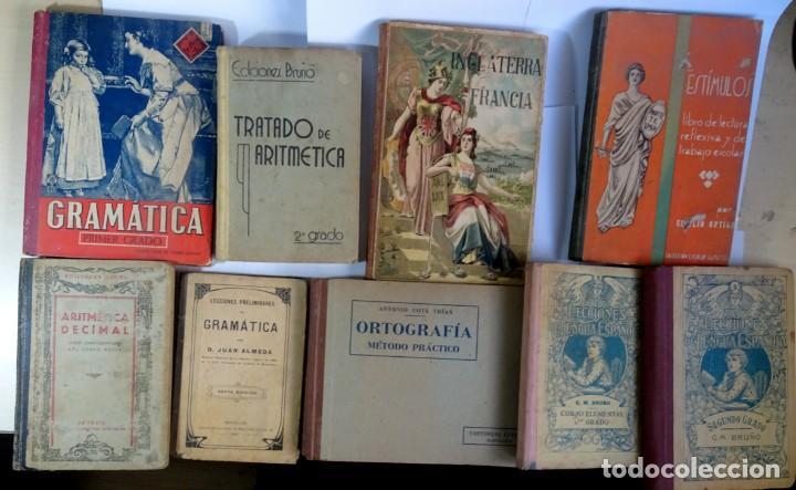 LOTE DE 9 ANTIGUOS LIBROS ESCOLARES VARIADOS, VER FOTOS (Libros Antiguos, Raros y Curiosos - Libros de Texto y Escuela)