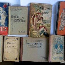 Libros antiguos: LOTE DE 9 ANTIGUOS LIBROS ESCOLARES VARIADOS, VER FOTOS. Lote 151380280