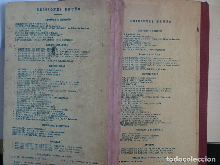 Libros antiguos: LOTE DE 9 ANTIGUOS LIBROS ESCOLARES VARIADOS, VER FOTOS - Foto 5 - 151380280