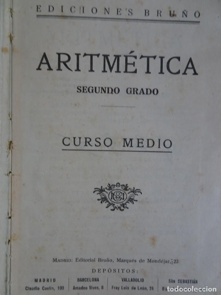 Libros antiguos: LOTE DE 9 ANTIGUOS LIBROS ESCOLARES VARIADOS, VER FOTOS - Foto 18 - 151380280