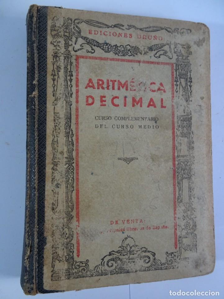 Libros antiguos: LOTE DE 9 ANTIGUOS LIBROS ESCOLARES VARIADOS, VER FOTOS - Foto 24 - 151380280