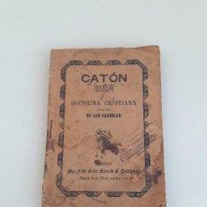 Livros antigos: CATÓN CRISTIANO Y DOCTRINA CRISTIANA PARA USO DE LAS ESCUELAS - BURGOS - HACIA 1900. Lote 240973415