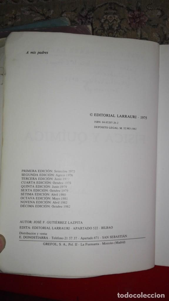 Libros antiguos: fisica y quimica electricidad y electronica fp 1 1º - Foto 3 - 151571526