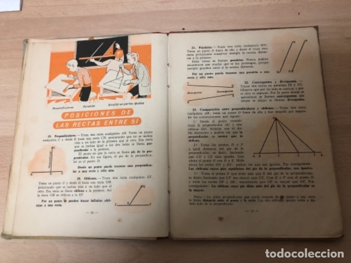 Libros antiguos: ANTIGÜO LIBRO DE COLECCIÓN GEOMETRÍA PRIMER GRADO AÑO 1.958 - Foto 3 - 151704466