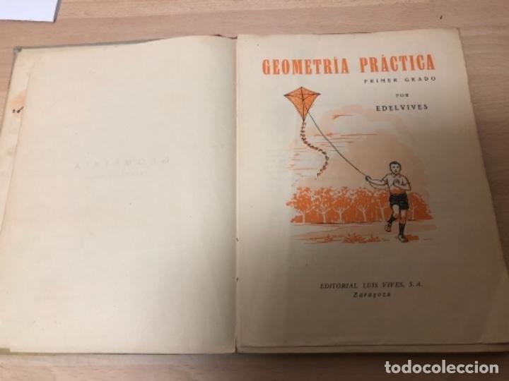 Libros antiguos: ANTIGÜO LIBRO DE COLECCIÓN GEOMETRÍA PRIMER GRADO AÑO 1.958 - Foto 4 - 151704466