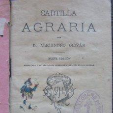 Libros antiguos: CARTILLA AGRARIA. ALEJANDRO OLIVÁN. 1897. Lote 152558714