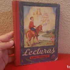 Libros antiguos: ANTIGUO LIBRO DE TEXTO O ESCUELA LECTURAS LUIS VIVES SEGUNDO 1950 . Lote 153886786