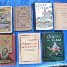 Libros antiguos: LOTE DE 7 LIBROS ESCOLARES ANTERIORES A 1936.. Lote 154170246