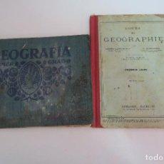 Libros antiguos: GEOGRAFIA PRIMER GRADO EDITORIAL F.T.D 1931 REGALO DE GEOGRAPHIE EN FRANCES. Lote 154682414