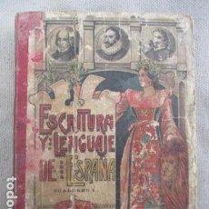 Libros antiguos: ESCRITURA Y LENGUAJE DE ESPAÑA - ESTEBAN PALUZIÉ - MANUSCRITO - PALEOGRAFÍA. Lote 154996358