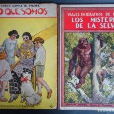 Libros antiguos: LOTE DE 2 ANTIGUOS LIBROS 1922 ED RAMÓN SOPENA, BIBLIOTECA PARA NIÑOS, VER FOTOS. Lote 155074122
