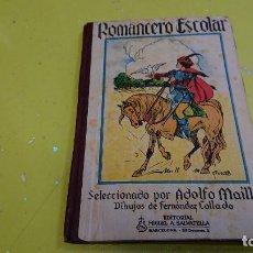 Libros antiguos: ANTIGUO LIBRO DE TEXTO ROMANCERO ESPAÑOL - ED. MIGUEL A. SALVATELLA AÑO 1950 . Lote 155086438