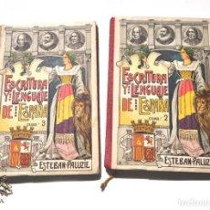 Libros antiguos: REPUBLICA. DOS LIBROS ESCOLAR ESCRITURA Y LENGUAJE DE ESPAÑA,EDIT.ESTEBAN-PALIZÍE. Lote 155773890