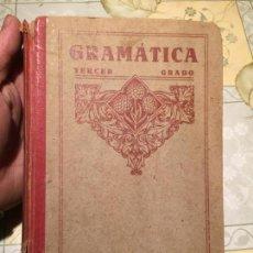 Libros antiguos: ANTIGUO LIBRO ESCOLAR GRAMÁTICA TERCER GRADO POR LUIS VIVES AÑO 1950. Lote 156060806