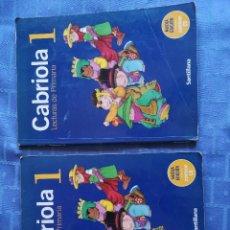 Libros antiguos: LOTE DE 2 LIBROS CABRIOLA 1 LECTURAS PRIMARIA. BUEN ESTADO. Lote 156998226