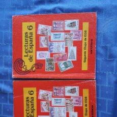 Libros antiguos: LOTE DE 2 LIBROS LECTURAS DE ESPAÑA 6. SEGUNDA ETAPA EGB. EDIT. SANTILLANA. COMO NUEVOS. Lote 156998694