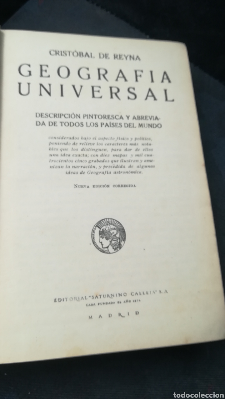Libros antiguos: Geografía Universal, de Saturnino Calleja - Foto 3 - 158677752