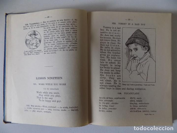 Libros antiguos: LIBRERIA GHOTICA. MEDODO DE INGLÉS. SEGUNDO GRADO. EDITORIAL LUIS VIVES.1958.MUY ILUSTRADO. - Foto 3 - 158866250