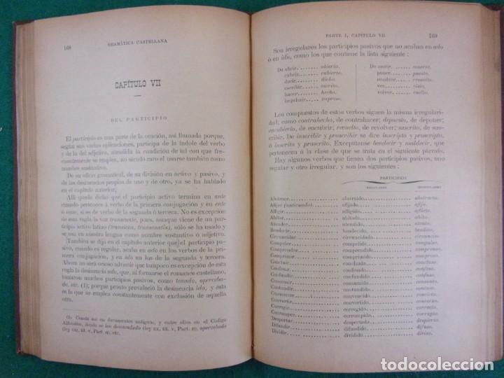 Libros antiguos: GRAMÁTICA DE LA LENGUA CASTELLANA / Real Academia Española 1904 - Foto 3 - 159013898
