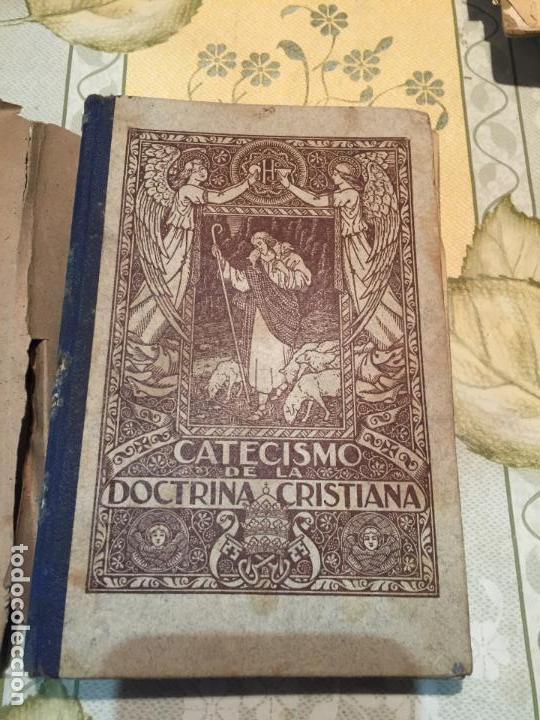 ANTIGUO LIBRO ESCOLAR CATECISMO BILINGÜE DE LA DOCTRINA CRISTIANA AÑO 1939 (Libros Antiguos, Raros y Curiosos - Libros de Texto y Escuela)