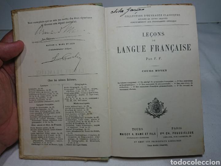 Libros antiguos: Leçons de Langue Française, Cours Moyen - Foto 2 - 159807454