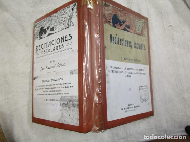 RECITACIONES ESCOLARES - EZEQUIEL SOLANA - MAGISTERIO ESPAÑOL S/F+ INFO Y FOTOS 1S (Libros Antiguos, Raros y Curiosos - Libros de Texto y Escuela)