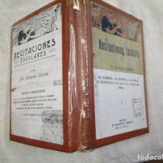 Libros antiguos: RECITACIONES ESCOLARES - EZEQUIEL SOLANA - MAGISTERIO ESPAÑOL S/F+ INFO Y FOTOS 1S. Lote 160645614
