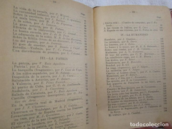 Libros antiguos: RECITACIONES ESCOLARES - EZEQUIEL SOLANA - MAGISTERIO ESPAÑOL S/F+ INFO Y FOTOS 1s - Foto 4 - 160645614