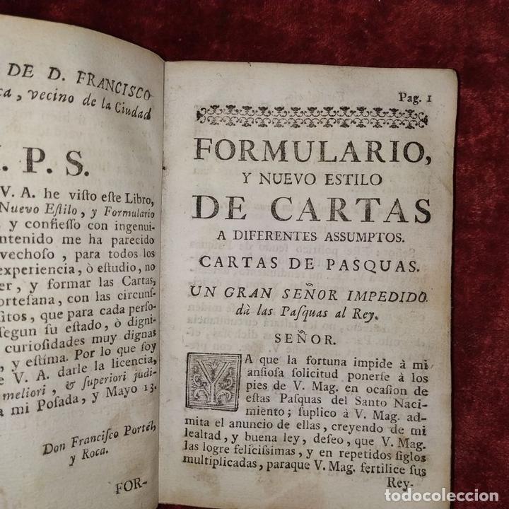 Libros antiguos: NUEVO ESTILO Y FORMULARIO DE ESCRIVIR CARTAS. IMP. RAFAEL FIGUERÓ. BARCELONA. 1756(?) - Foto 10 - 161650814