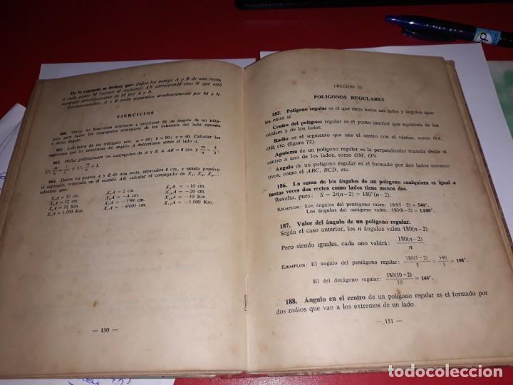 Libros antiguos: Martemáticas Tercer Curso Editorial Luis Vives 1955*** - Foto 2 - 161910902