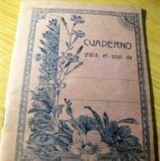 Libros antiguos: BONITA LIBRETA ESCOLAR . AÑOS 20 TABLA DE MULTIPLICAR DETRAS . 15 / 10 CM. Lote 163787634