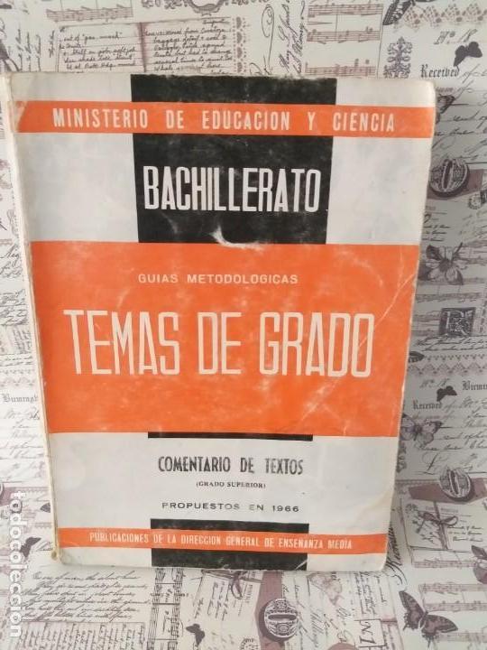 Libros antiguos: Libro bachillerato, temas de grado - Foto 3 - 165051370