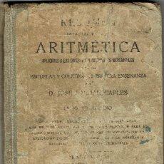 Libros antiguos: LECCIONES DE ARITMETICA / JOSE DALMAU CARLES. GERONA DALMAU CARLES, 1922 87ª EDICION, GRADO MEDIO. Lote 166184678