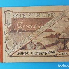 Libros antiguos: GEOGRAFIA ATLAS CURSO ELEMENTAL EN CURSOS CICLICO CONCENTRICOS, JOSE BATLLE Y PARIS 5ª EDICION . Lote 166680014