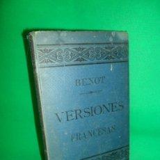 Libros antiguos: VERSIONES FRANCESAS DE LOS MEJORES HABLISTAS, EDUARDO BENOT, ED. LIBRERÍA VIUDA DE HERNANDO, 1889. Lote 166927560