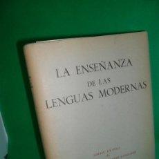 Libros antiguos: LA ENSEÑANZA DE LAS LENGUAS MODERNAS, TERESA DÍEZ, ED. DIRECCIÓN GENERAL DE ENSEÑANZA. Lote 166928644