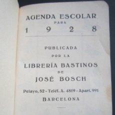 Libros antiguos: ANTIGUA AGENDA ESCOLAR AÑO 1928, BARCELONA.. Lote 168570864
